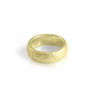 Beaten Gold band - by Scarab Jewellery Studio