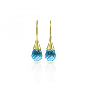 E101 Swiss Blue Topaz drop earrings by Scarab Jewellery Studio