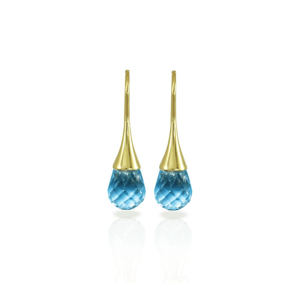 E101 Swiss Blue Topaz drop earrings by Scarab Jewellery Studio