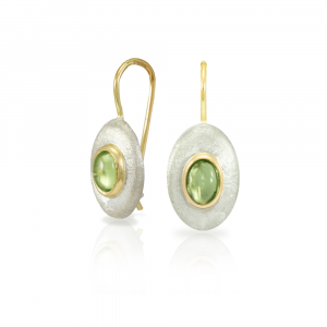 Peridot Surfboard Earrings by Scarab Jewellery Studio