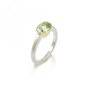 Nefertiti aquamarine gold ring by Scarab Jewellery Studio