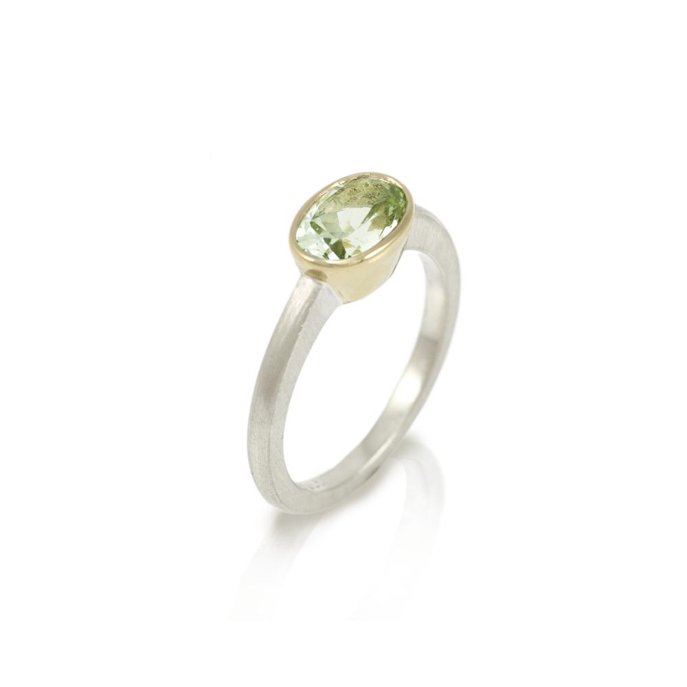 Nefertiti aquamarine gold ring by Scarab Jewellery Studio
