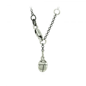 Silver Scarab Charm Drop with Clasp