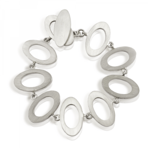 Chunky Silver Bracelet - solid silver