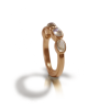 Rose Gold Moonstone Ring with four moonstones by Scarab Jewellery Studio