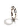 silver moonstone ring with four moonstones by Scarab Jewellery Studio