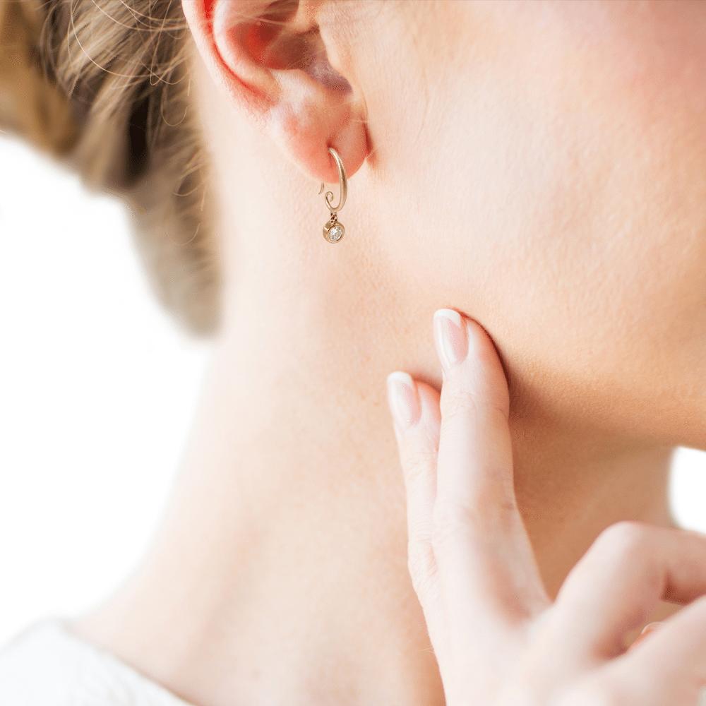 Spiral Hoop Diamond Drop Earrings Scarab Jewellery