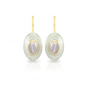 Surfboard earrings Moonstone