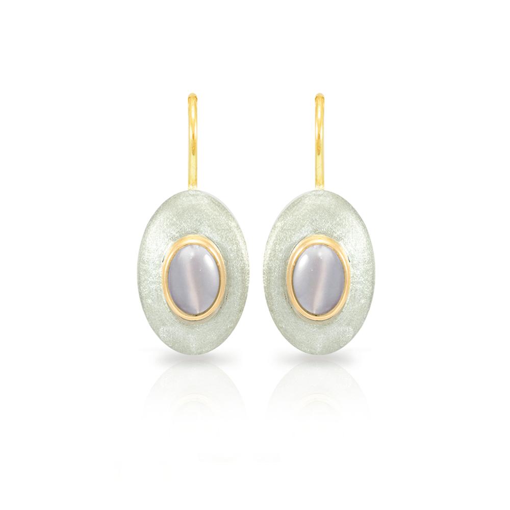 Surfboard earrings Moonstone