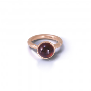 garnet and diamond engagement ring by Scarab Jewellery Studio