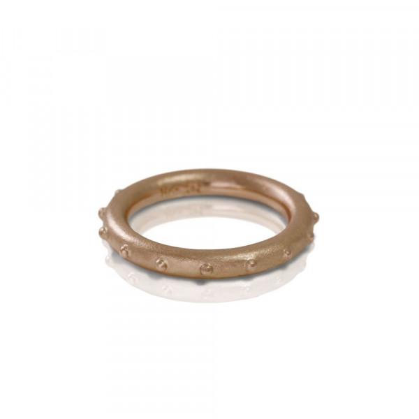 """""""Ballie"""" red gold ball ring by Scarab Jewellery Studio"""