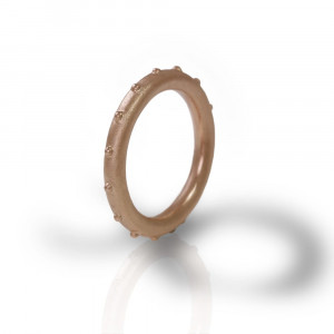 """Ballie"" red gold ball ring by Scarab Jewellery Studio"