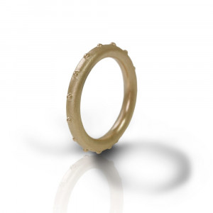 """Ballie"" yellow gold ball ring by Scarab Jewellery Studio"