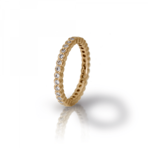 Yellow Gold Diamond Eternity Band by Scarab Jewellery Studio