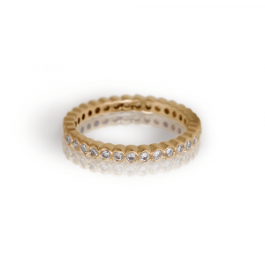 Yellow Gold Diamond Eternity Band Model RG94 - Scarab Jewellery Studio