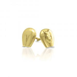Gold African Rhino Earrings by Scarab Jewellery Studio