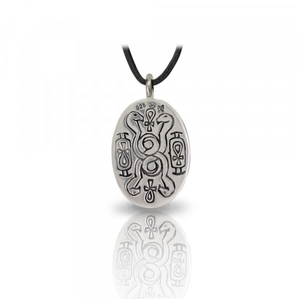Large silver scarab pendant back by Scarab Jewellery Studio
