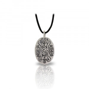 Medium Silver Scarab Pendant back by Scarab Jewellery Studio