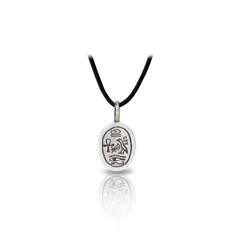 Small detailed egyptian silver scarab pendant scarab jewellery small detailed egyptian silver scarab pendant back by scarab jewellery studio aloadofball Choice Image