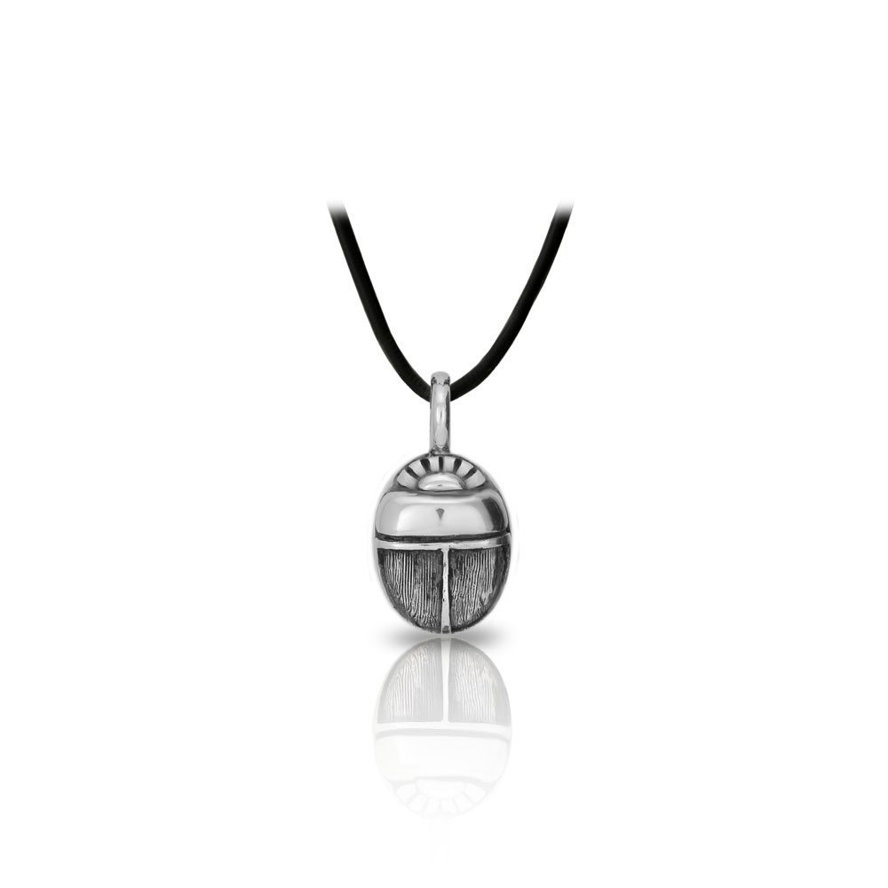 Small detailed egyptian silver scarab pendant scarab jewellery small detailed egyptian silver scarab pendant front by scarab jewellery studio aloadofball Choice Image