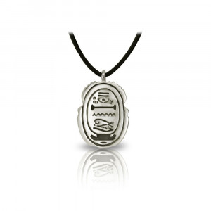 Alexandria Egyptian Silver Scarab Pendant back by Scarab Jewellery Studio