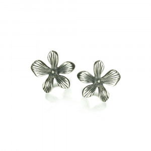Silver Lily Earrings by Scarab Jewellery Studio Cape Town