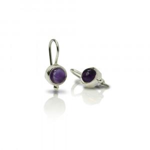 silver amethyst drop earrings by Scarab Jewellery Studio - February Birthstone Jewellery