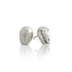 Silver African Elephant Earrings by Scarab Jewellery Studio