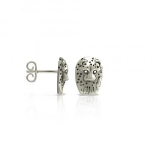 Silver African Leopard Earrings by Scarab Jewellery Studio