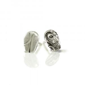 Silver African Lion Earrings by Scarab Jewellery Studio