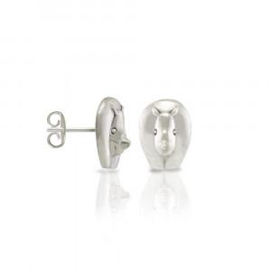 Silver African Rhino Earrings by Scarab Jewellery Studio