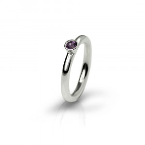 Silver Amethyst Flute Ring by Scarab Jewellery Studio