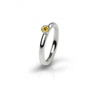 Silver Citrine Flute Ring by Scarab Jewellery Studio