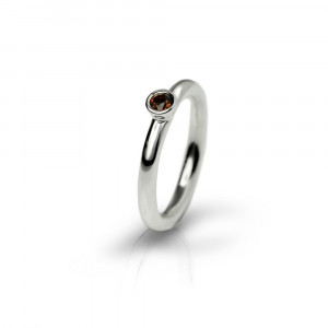 Silver Garnet Flute Ring by Scarab Jewellery Studio