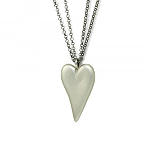Silver Bewitched Heart Pendant by Scarab Jewellery Studio