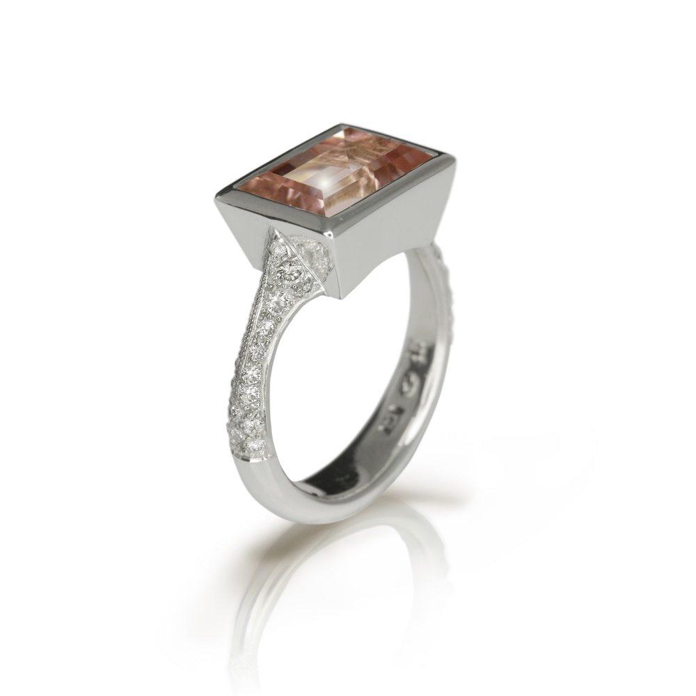 white gold pale pink tourmaline ring shop scarab