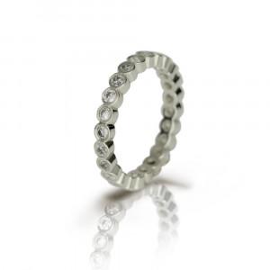 White Gold Diamond Eternity Ring by Scarab Jewellery Studio