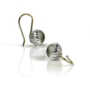 Daisy Moonstone Cabouchon Drop Earrings by Scarab Jewellery Studio
