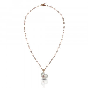 Rose Quartz Silver Heart Locket Necklace by Scarab Jewellery Studio
