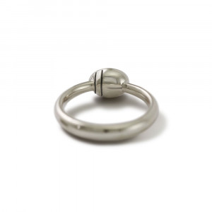 underside of Secret Scarab Oval gemstone Silver Ring by Scarab Jewellery Studio