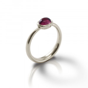 Secret Scarab Oval Amethyst Silver Ring by Scarab Jewellery Studio - February Birthstone Jewellery