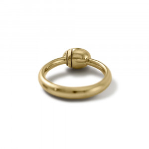 underside of Secret Scarab Oval gemstone Gold Ring by Scarab Jewellery Studio