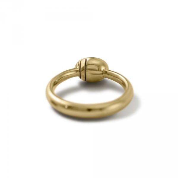 underside of Secret Scarab Oval gemstone Gold Ring by Scarab Jewellery Studio