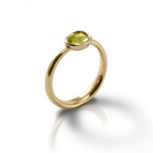 Secret Scarab Oval Peridot Gold Ring by Scarab Jewellery Studio
