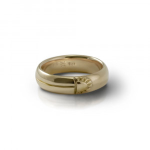 Scarab Mens 9 Carat Gold Comfort Band by Scarab Jewellery Studio