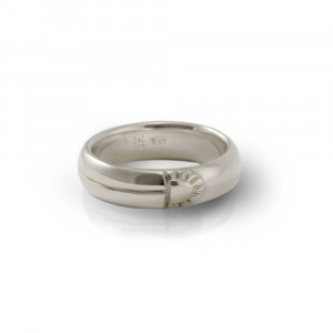 Scarab Mens Solid Silver Comfort Band by Scarab Jewellery Studio