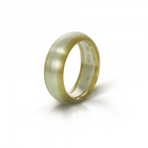 Silver Gold Two Tone Mens Wedding Band by Scarab Jewellery Studio South Africa