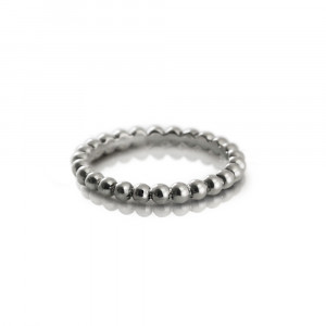 Scalloped Silver Ball Eternity Ring by Scarab Jewellery Studio
