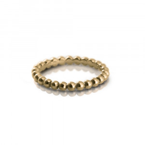 Scalloped Gold Ball Eternity Ring by Scarab Jewellery Studio
