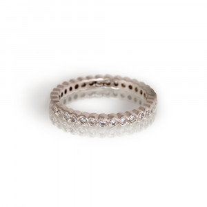 White Gold Diamond Eternity Band by Scarab Jewellery Studio